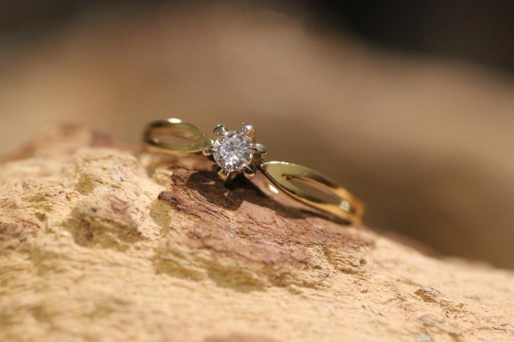 Briljant solitair splitband ring 1