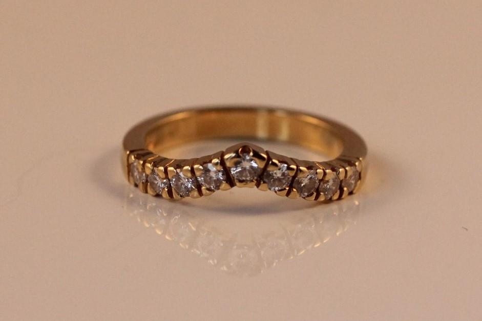 chevronring diamant 18 karaats
