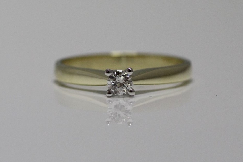 solitairring 0.15 carat