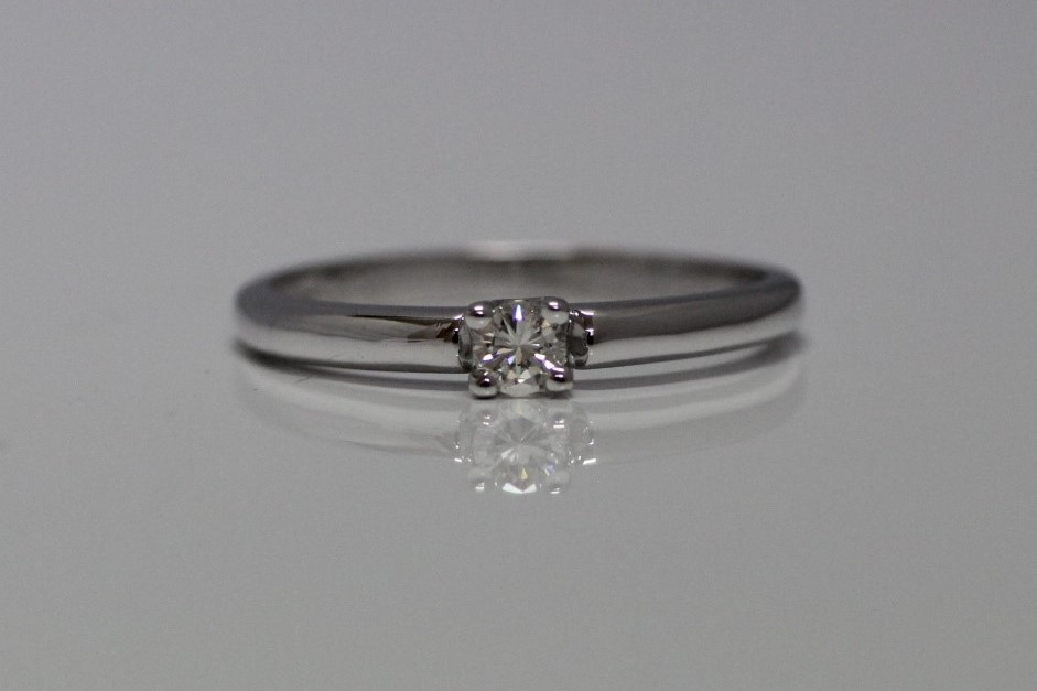 solitairring 0.13 carat