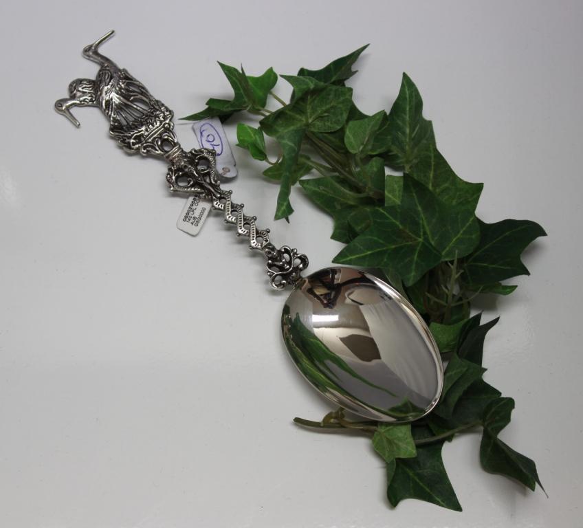 zilveren geboortelepel ooievaar 3