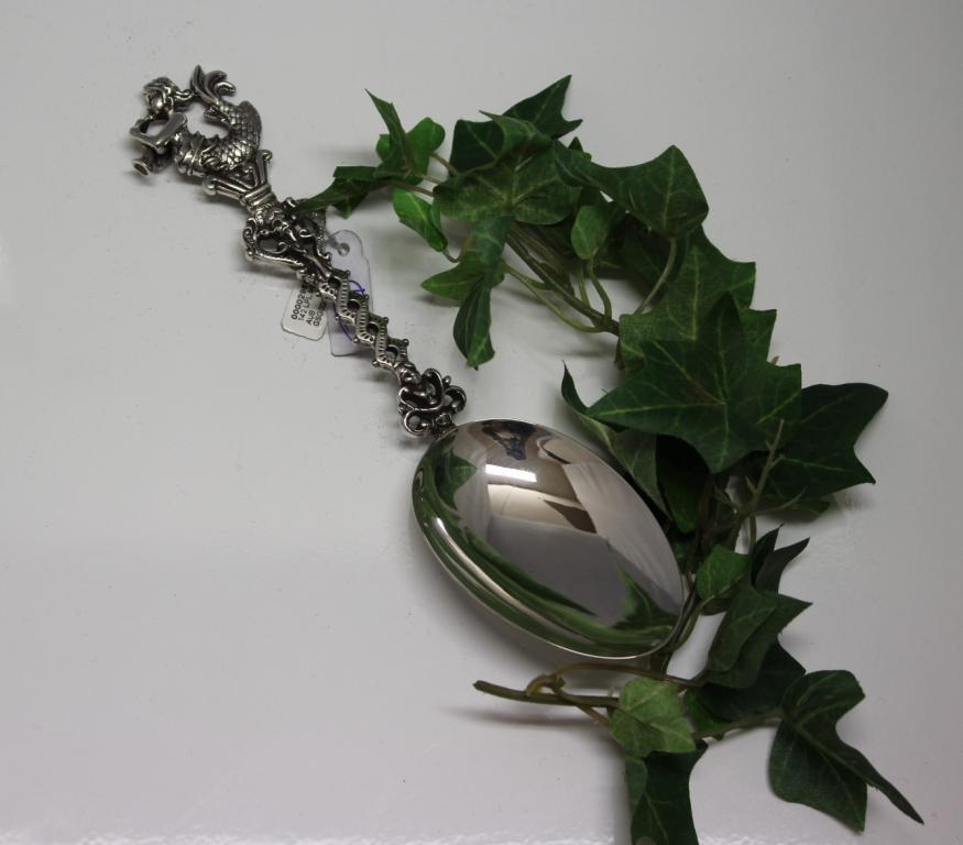 zilveren geboortelepel zeemeermin