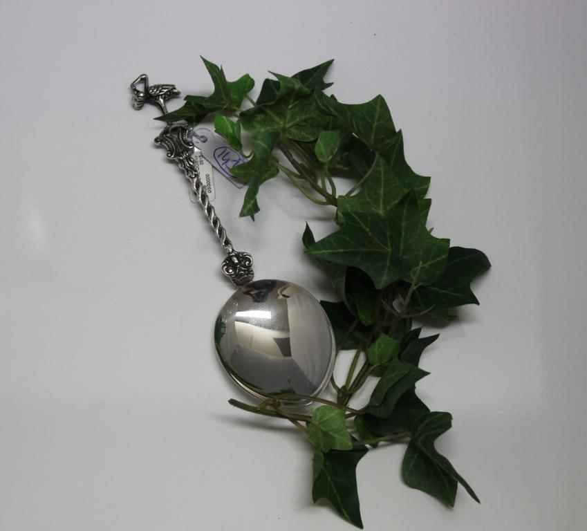 zilveren geboortelepel ooievaar