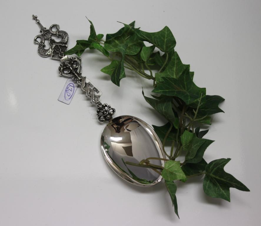 zilveren geboortelepel zwaan