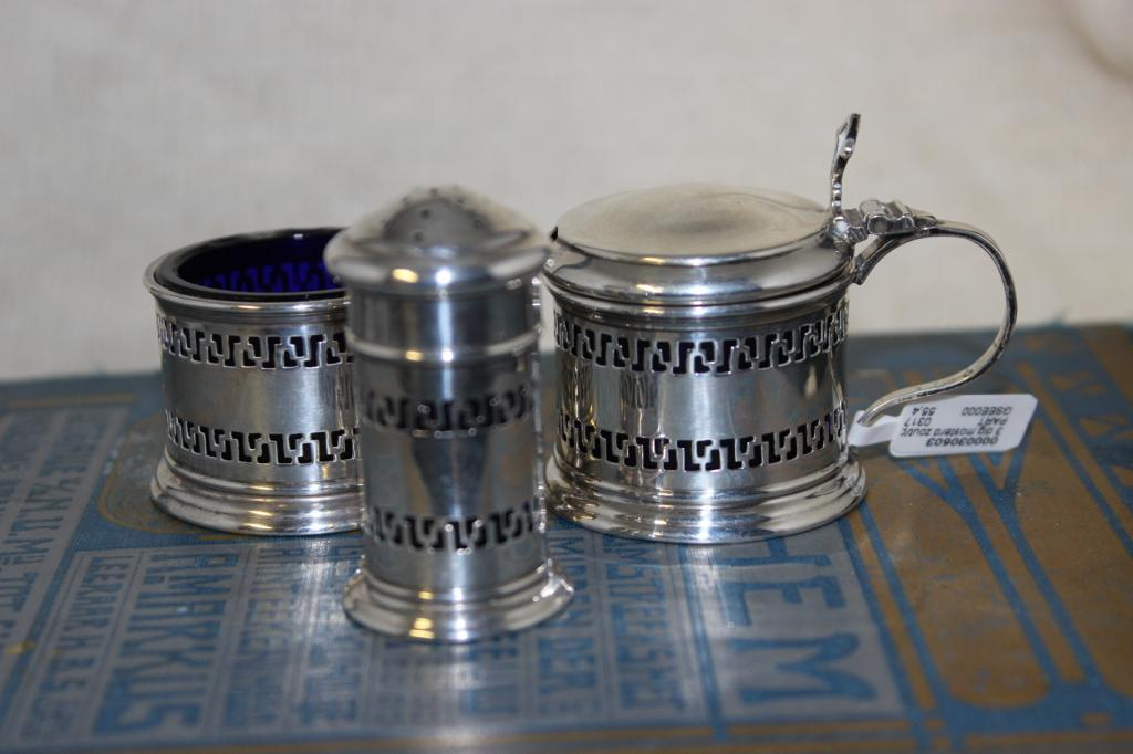 zilver blauwglas 3 delig 1