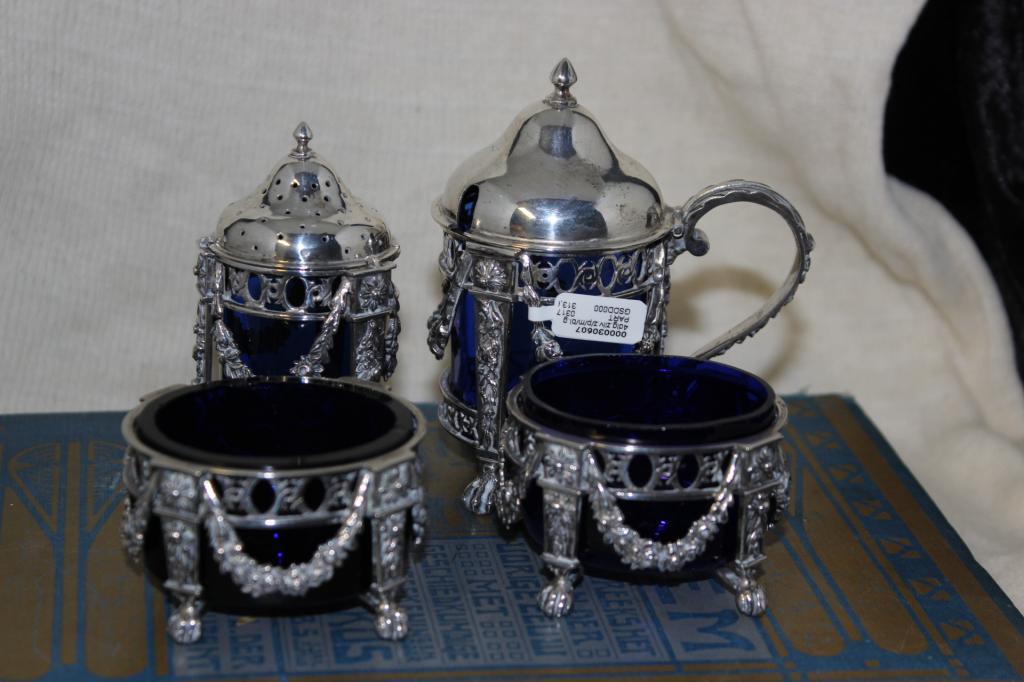 zilver blauwglas 4 delig 1
