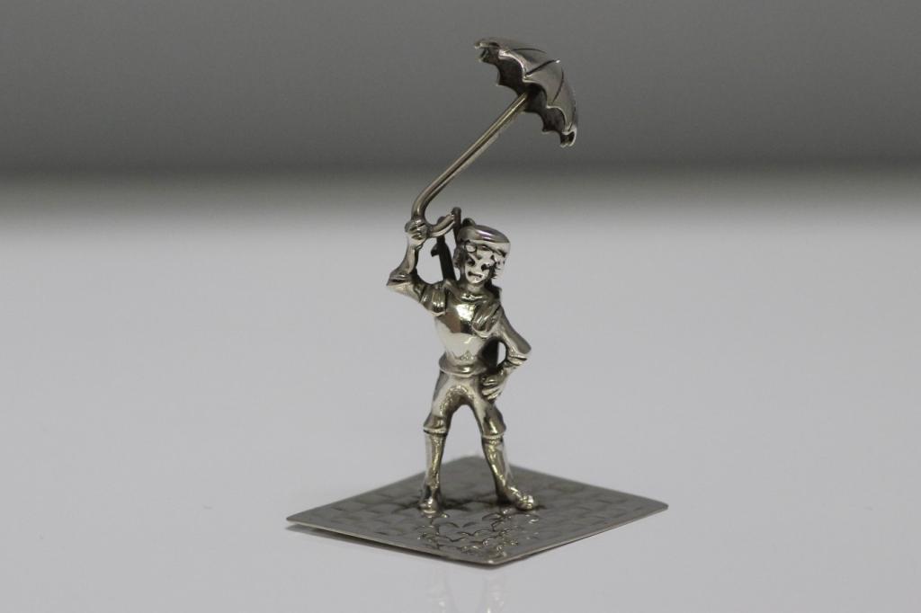 zilveren miniatuur paraplu 1