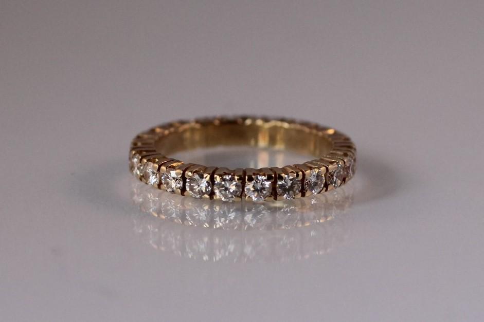 alliancering diamant geelgoud