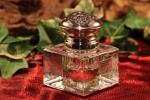 Zilveren inktpot met kristal 1
